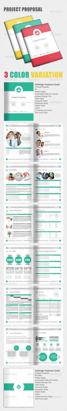 Project Proposal Template u2014 InDesign INDD #site map #quote - quote proposal template