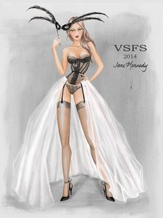 "Victoria's Secret Fashion Show 2014 ""Angel Ball"" section. Illustration by Jane Kennedy www.janelkennedy.com"