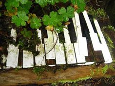 Serenity in the Garden: Repurposed and Recycled - Creative Ideas for Garden Design-recycled piano keys