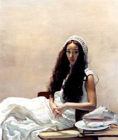 Yuqi Wang 1958   Chinese Portrait painter