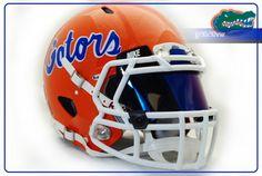 91 687x461 Florida Gators Pro Comabt Riddell Speed Football Helmet