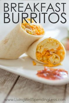 Hectic mornings got you feeling stressed? Alleviate the morning rush with these quick and tasty make-ahead breakfast burritos. They come together fast, then can be frozen ahead of time for delicious breakfast on the go. Healthier than fast food, and cheaper too! via /lwsl/