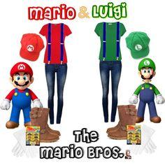 DIY Mario & Luigi Halloween Costumes