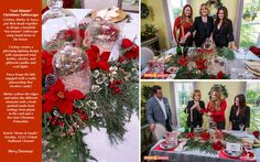 "SET YOUR DVR'S! ""Last Minute Christmas Tablescape!"" Cristina Ferrare, Shirley Bovshow, and Tanya Memme put their creative hats together to design a beautiful Christmas tablescape using items already in the house.  For Shirley, that means raiding the landscape for plants for her fresh garland!  Watch Home & Family on Hallmark channel, Tuesday, 12/23 @10am pst  EdenMakers.com"