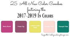 Stampin'Up! Color Combos featuring the NEW 2017-2019 In colors, fresh fig, tranquil tide, lemon lime twist, berry burst, powder pink #lisapretto #inkbigacademystamps