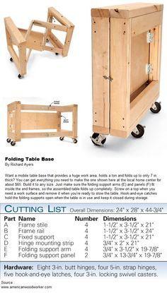 Folding Table Base