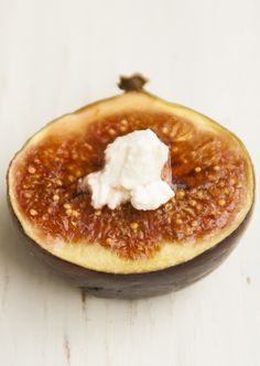 Roasted Fig with Goat Cheese