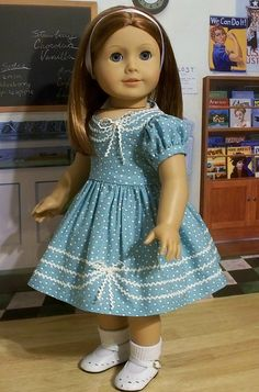 1940-50's Rick-Rack Frock by Keepersdollyduds, via Flickr. love the rick-rack trim