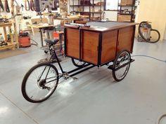 Custom Coffee Cart built by Koostik, 2013.  African Sapele wood.