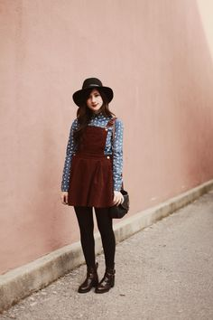 Flashes of Style: Dots + Overalls