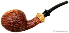 Lasse Skovgaard Sandblasted Acorn with Olivewood Pipes at Smoking Pipes .com