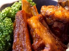Home Recipes, Asian Recipes, Cooking Recipes, Spare Ribs, Dinner Menu, Japanese Food, Chicken Wings, Pork, Food And Drink