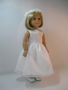 Her top Choice - if in full-girl scale. 1st Communion Dress for 18 Inch Doll by terristouch on Etsy, $40.75