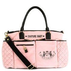 brand name baby diaper bags | Juicy Couture Diaper Baby Bag Pink New Bib Wipe Box Changing Pad ...