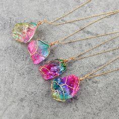 Quartz Jewelry, Quartz Necklace, Crystal Jewelry, Crystal Necklace, Pendant Jewelry, Stone Jewelry, Rock Jewelry, Rock Necklace, Stone Necklace