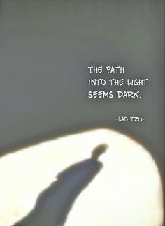 Draw & Wings. - The path into the light seems dark. The path...