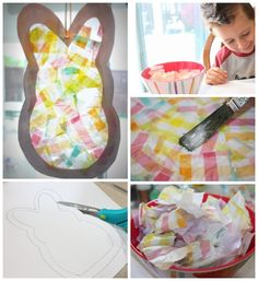 That's Crafty!  Bunny Sun Catcher #Easter
