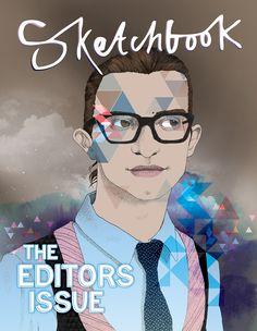 Sketchbook Magazine cover design and illustration. http://roxannesilverwood.com/portfolio/sketchbook-magazine-cover-illustration-design/