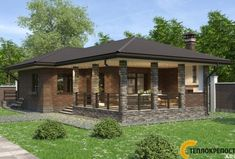 Beautiful House Plans, Beautiful Homes, Bungalow Haus Design, House Design, Home Technology, Easy Home Decor, Farmhouse Style, My House, Gazebo