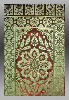Fig. 24. Velvet yastik, Turkey 17th century. Textile Museum, Washington, no.1.79. (via Silk and Wool:Ottoman Textile Designs in Turkish Rugs)