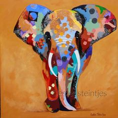 MUTU Colorful Oil Animals Lovely Elephant Paintings Modern Print Paintings On Canvas Picture For Bedding Room Wall Art Posters Giraffe Art, Elephant Art, Acrylic Painting Canvas, Canvas Art, Canvas Size, Abstract Animals, Animal Quilts, Colorful Animals, Learn Art
