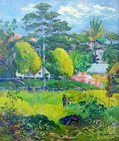 Paul Gauguin - Landscape 3d [1901] - Paris Musée de l'Orangerie #Gauguin #Orangerie #Paris