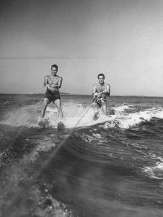 Waterskiing double = double the fun in the sun!