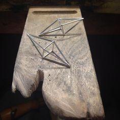 #geometric #earrings #jewelry #jewel #silver #handmade #marianinot