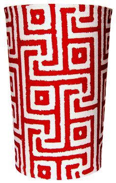 Slip-covered waste baskets - PaperCity | House & Design | Give 'Em the Slip