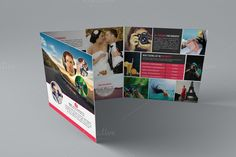Photography Tri-Fold Square Brochure by Cristal Pioneer on Creative Market