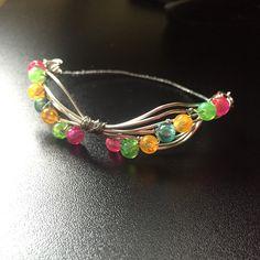 W͓̽i͓̽r͓̽e͓̽ b͓̽r͓̽a͓̽c͓̽e͓̽l͓̽e͓̽t͓̽s͓̽ #color #multicolour #bracelet #homemade #wire #beads #rainbow #colour #colourful #bow