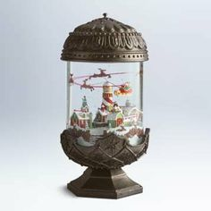 Lighted water globe--Features Light and Blowing Snow. Hades Disney, I Love Snow, Let It Snow, Christmas Snow Globes, Christmas Balls, Christmas Ideas, Santa Snow Globe, Musical Snow Globes, Water Globes