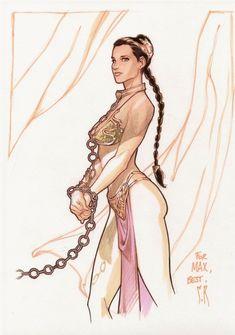 Stephane Roux, Slave Leia Comic Art