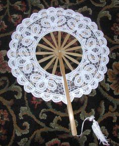 Battenburg Lace Fan