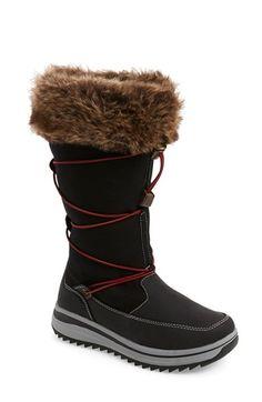 Khombu 'Chalet' Waterproof Tall Boot With Faux Fur Trim (Women) (Wide Calf)