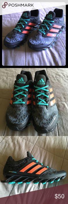adidas springblade rasoio di scarpe da corsa, ragazzi della scuola elementare di fede