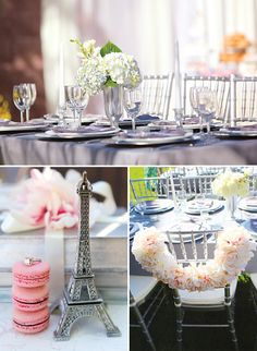 Romantic Parisian Bridal Shower {Pink & Silver}