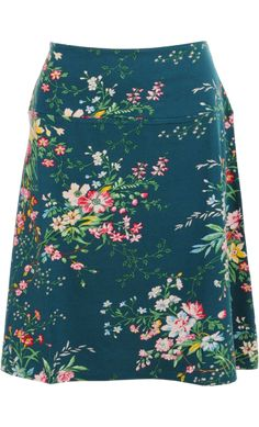 Vintage Inspired Autumn | ❀ | Borderskirt Dragonfly Blue - Magnolia Flowers  | ❀ | King Louie AW14