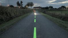 Dutch try heated cycle tracks and glow in the dark roads. Click to watch video-clip from BBC.  Link to article: http://www.springwise.com/eco_sustainability/in-netherlands-bike-paths-heated-winter-months/