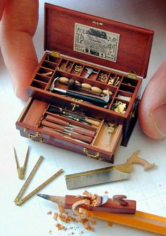 World's smallest fully functioning toolbox fashioned in 18th century style by William Robertson.