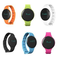 Waterproof Smart Watch Bluetooth Silicone Band Watch Android IOS iPhone Samsung LG (Orange). Bracelet type smart watch, more convenient while you are doing sports. Silicone material, safe and comfortable to wear. Compatible with many phones and pads equipped with Bluetooth. Black,Blue,Orange,Green,Pink. Battery capacity: 55 mAh.