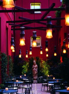 Enterprise Hotel, Milan. Garden