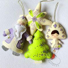 Items similar to Set of Christmas toys.Felt Christmas toys on Etsy Sewn Christmas Ornaments, Felt Christmas Decorations, Fabric Ornaments, Noel Christmas, Christmas Toys, Felt Ornaments, Handmade Christmas, Beaded Ornaments, Felt Crafts