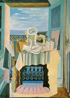 Pablo Picasso - Open Window at St. Raphael, 1919