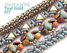 Stack Pack ONE: Teal Gold Bracelets KIT
