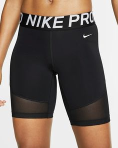 "Nike Pro Women's 8"" Shorts. Nike.com Nike Compression Shorts, Nike Spandex Shorts, Nike Pro Shorts, Yoga Shorts, Gym Shorts Womens, Crossfit Shorts, Crossfit Clothes, Nike Cycling, Cycling Shorts"