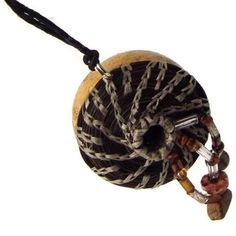 Natural Woven Gourd Necklace Jewelry Gourd with Horsehair.