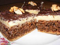 prajitura cu lapte condensat si nuci Sweets Recipes, Cake Recipes, Yami Yami, Vegan Cake, Fudge, Tiramisu, Deserts, Food And Drink, Gluten