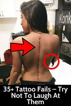 Whatever your reason for getting inked is, be sure to think your decision through and don't end up with the same tattoo fails these people did. Funny Memes, Hilarious, Fun Funny, Funny Facts, Tattoo Fails, Amazing Gifs, Rite Of Passage, Try Not To Laugh, Tecno