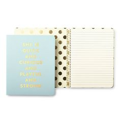 STYLE: quick & curious put a little pep in your work day, study session or laundry list of to-dos with our spiral notebooks. with 112-lined pages, it's fit to hold a day's worth of lists and doodles a